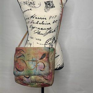 Vintage Hand painted Crossbody Shoulderbag